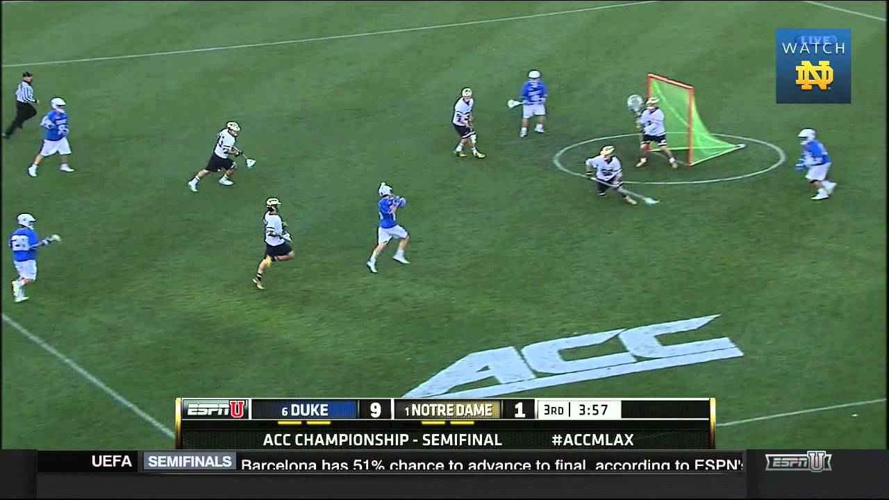 Notre Dame vs. Duke Men's Lacrosse ACC Semifinals Highlights