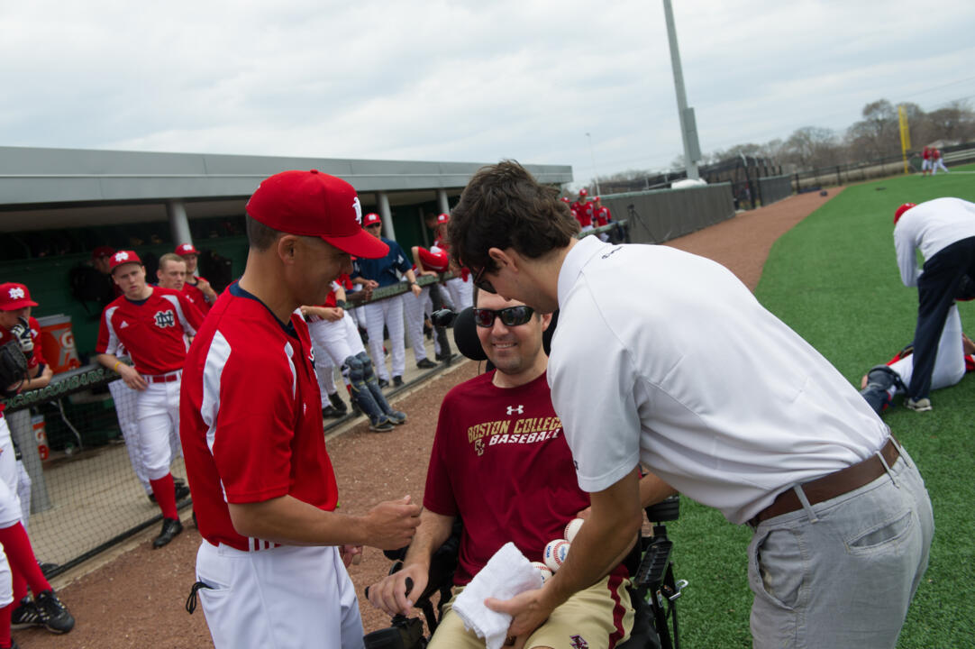 Notre Dame head coach Mik Aoki coached Pete Frates for four years at Boston College (2004-07).