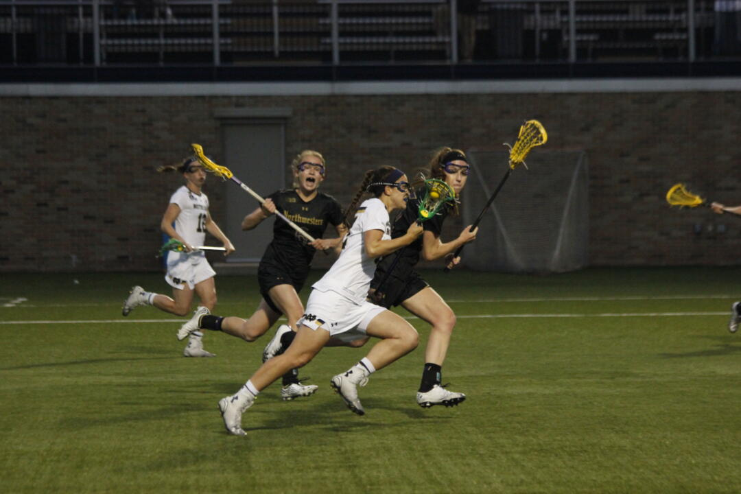 Cortney Fortunato scored twice against Northwestern on April 16.