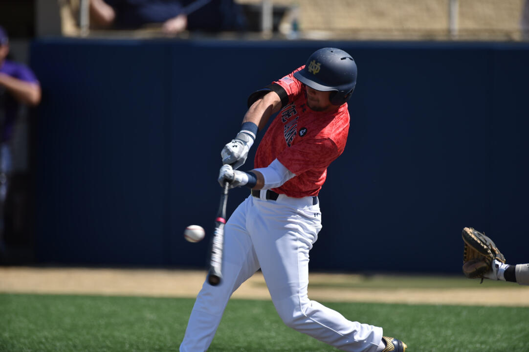 Senior Ryan Bull tallied a two-out, two-strike RBI double to tie the game up at four Saturday afternoon versus Miami.