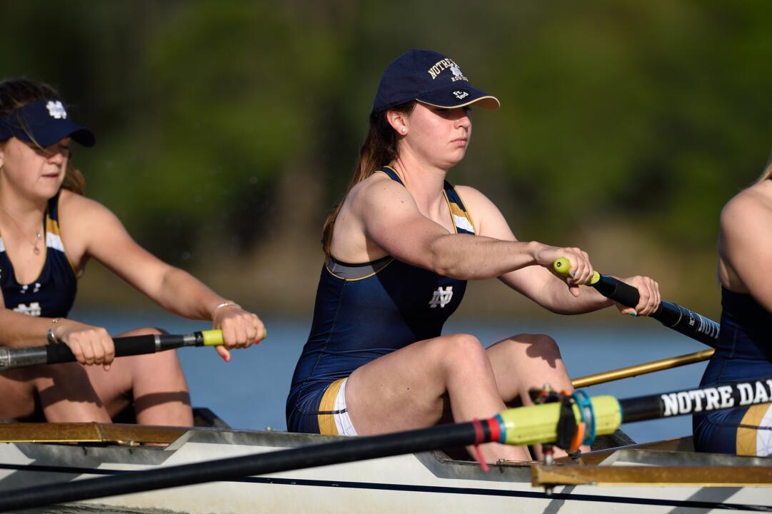 Freshman Elizabeth Walter and the Notre Dame varsity four will race in the A/B semifinals on Saturday during the second day of the 2015 NCAA Championship