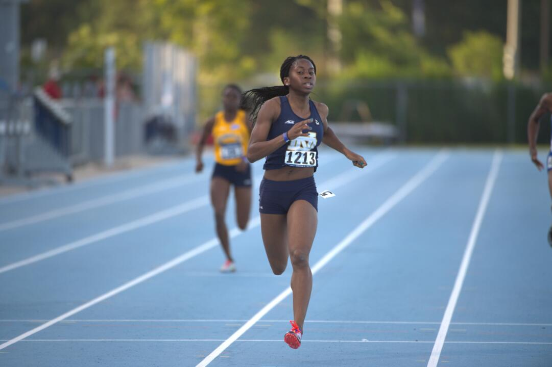 Junior Margaret Bamgbose advanced to the national semifinals in the 400 meters on Friday at the NCAA East Preliminary, breaking her own Irish record in 51.37.