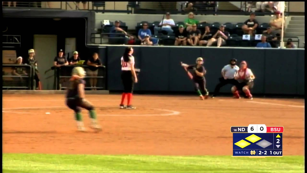 Notre Dame vs. Ball State Softball NCAA Regional Highlights