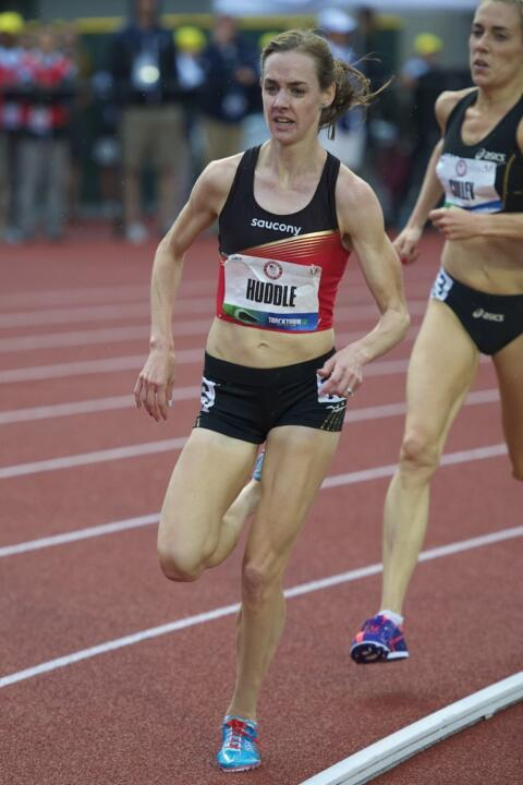 Former Irish standout Molly Huddle won her first national 10,000 meter championship this weekend at the USATF Outdoor Championships to secure a spot on the U.S. team for the world championships in Beijing.