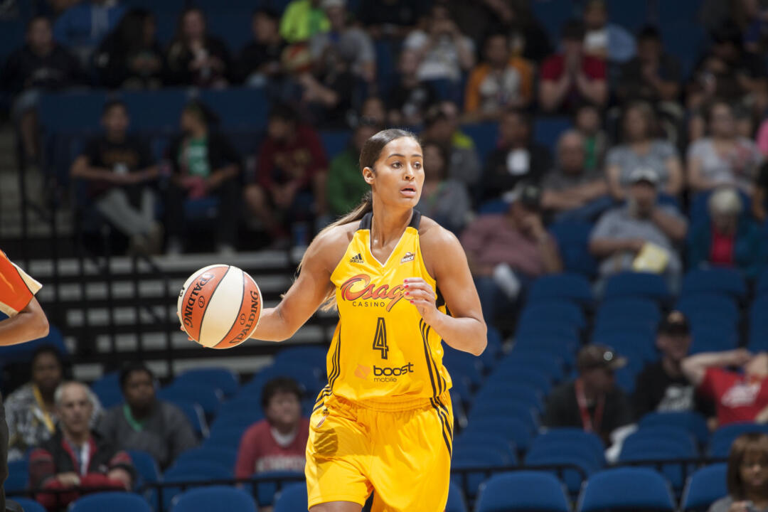 Former Notre Dame All-America guard Skylar Diggins, a first-team all-WNBA selection and 2014 WNBA All-Star, begins her third pro season at 8 p.m. (ET) Friday when the Tulsa Shock visit fellow Fighting Irish All-American Devereaux Peters at the Minnesota Lynx.