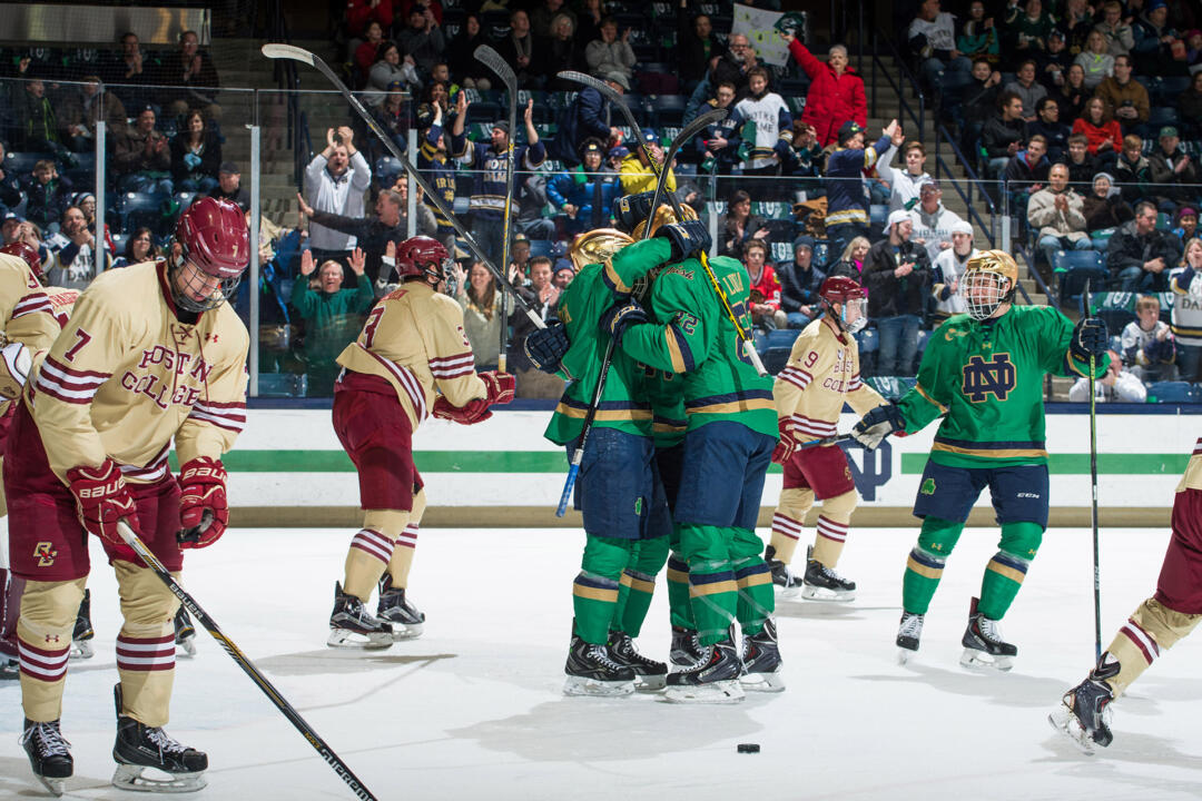Boston College is among the five 2015 NCAA participants which Mario Lucia and the Irish will welcome to South Bend in 2015-16.