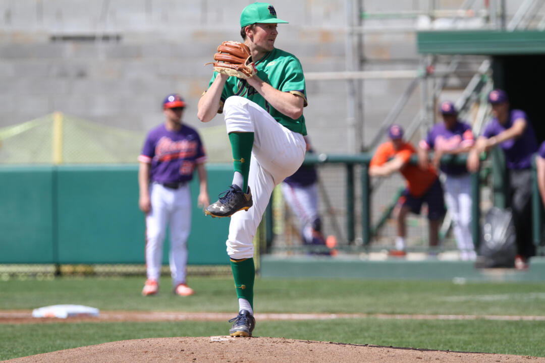 Junior RHP Nick McCarty was one of seven Irish standouts to earn all-ACC Academic Team honors Monday.