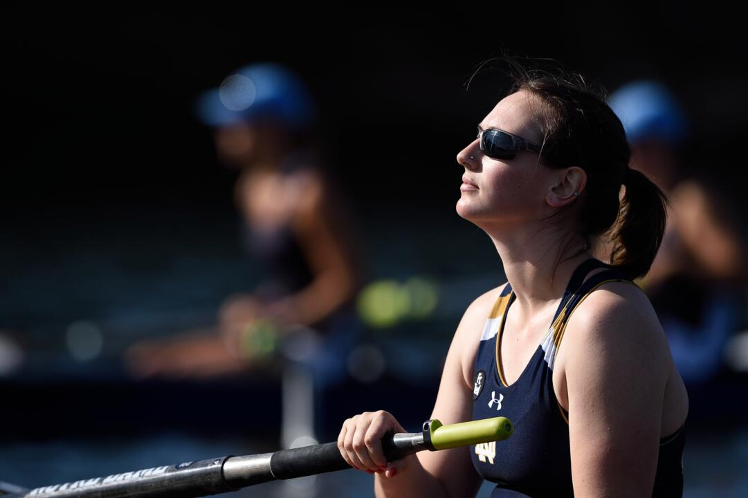 Ailish Sheehan was selected as the 15th rowing All-American in Notre Dame history after being named to the CRCA Pocock All-America second team on Monday