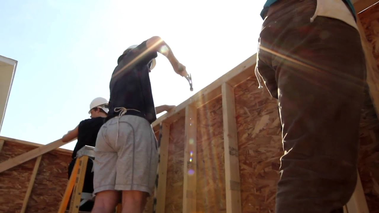 Garage Build - The Student-Athlete Build for Habitat for Humanity