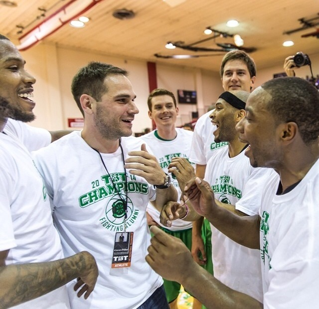 The Fighting Alumni, a team of former Notre Dame men's basketball players, are the defending champions at The Basketball Tournament, a $1 million, winner-take-all event open to all-comers that begins at 8 p.m. (ET) Thursday (live on ESPNU).