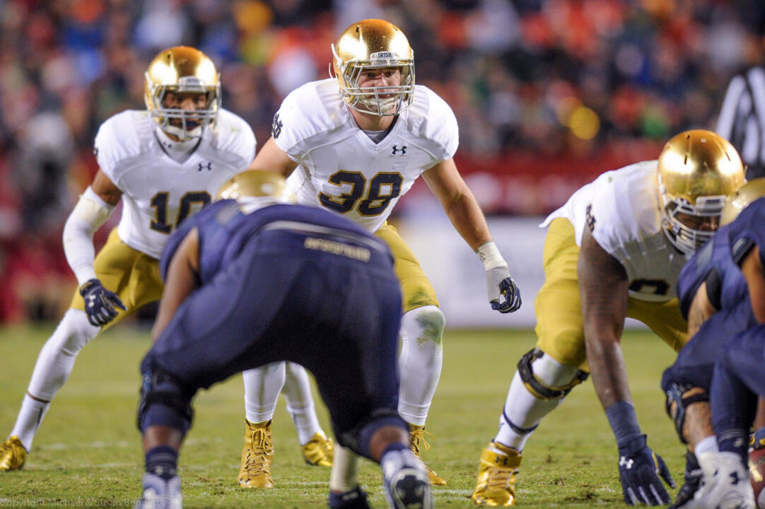 Notre Dame's chapter, spearheaded by graduate linebacker Joe Schmidt, raises money and awareness for osteosarcoma, a rare malignant bone cancer that affects children.