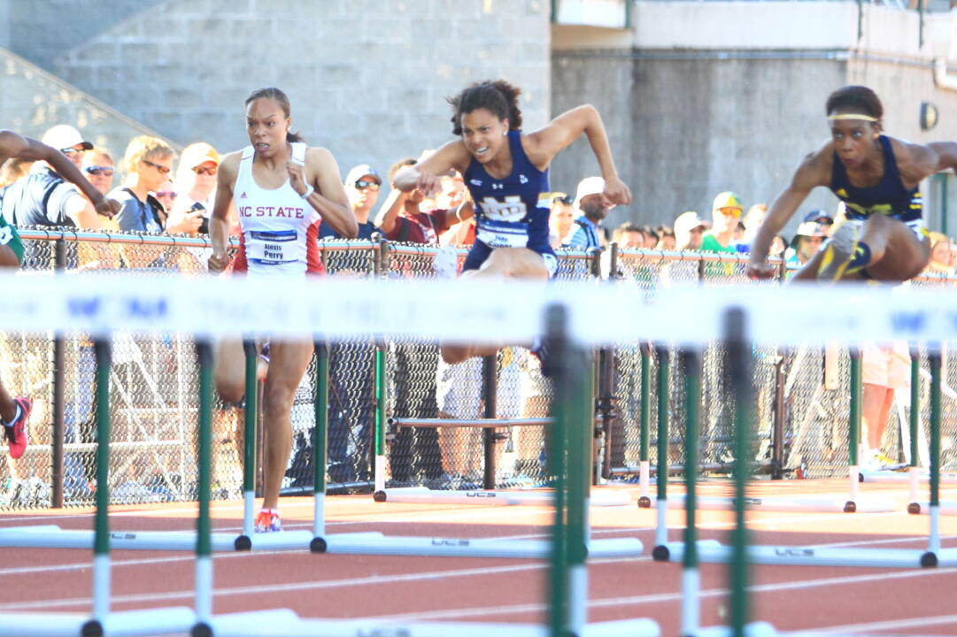 Graduate Jade Barber will compete in the 100-meter hurdles for the USA National Team at the World University Games in Gwangju, Korea.