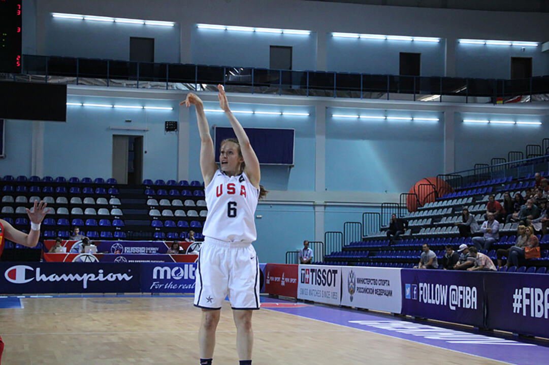 Notre Dame freshman guard Ali Patberg had six rebounds to help the USA improve to 2-0 at the 2015 FIBA U19 World Championship with an 88-62 win over China Sunday afternoon in Chekhov, Russia.