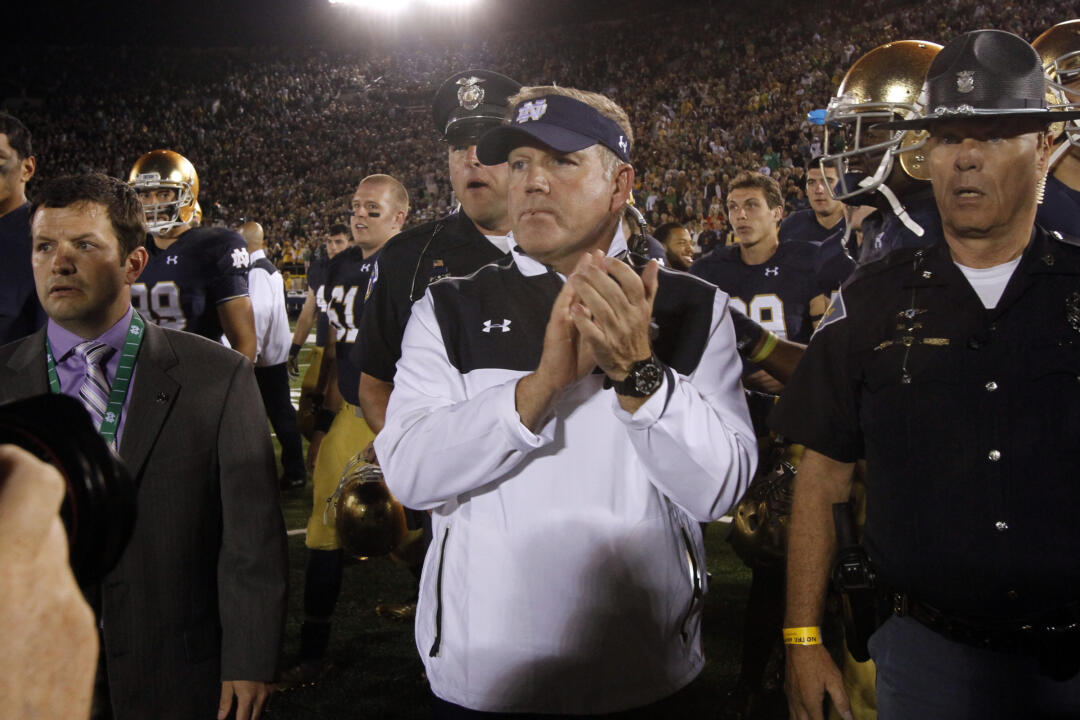 Brian Kelly told the media Thursday that he likes the potential of his team in 2015.