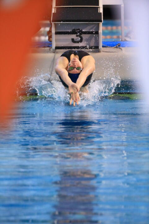 Catherine Mulquin earned an Olympic Trial cut in the 100m back at the Phillips 66 National Championship meet.