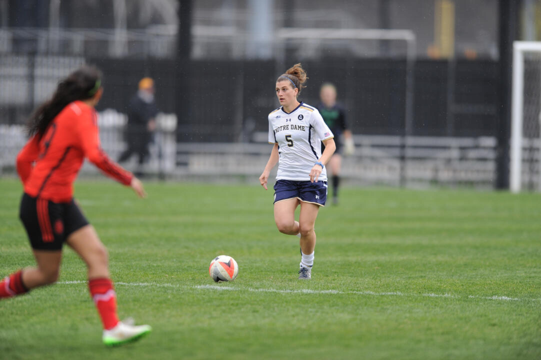 Irish head coach Theresa Romagnolo will look for her Irish squad to attack early and often in 2015, led by preseason MAC Hermann Trophy candidate Cari Roccaro.