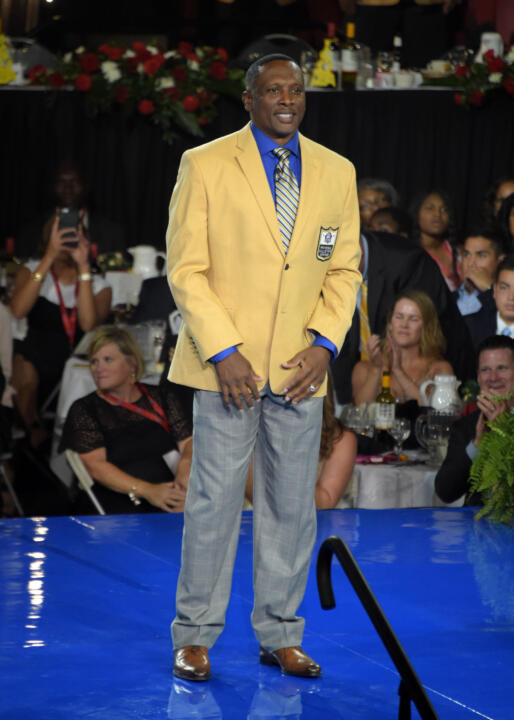 Former Notre Dame All-American and 1987 Heisman Trophy recipient Tim Brown joined fellow Fighting Irish great Jerome Bettis in this year's Pro Football Hall of Fame class that was enshrined this weekend in Canton, Ohio.