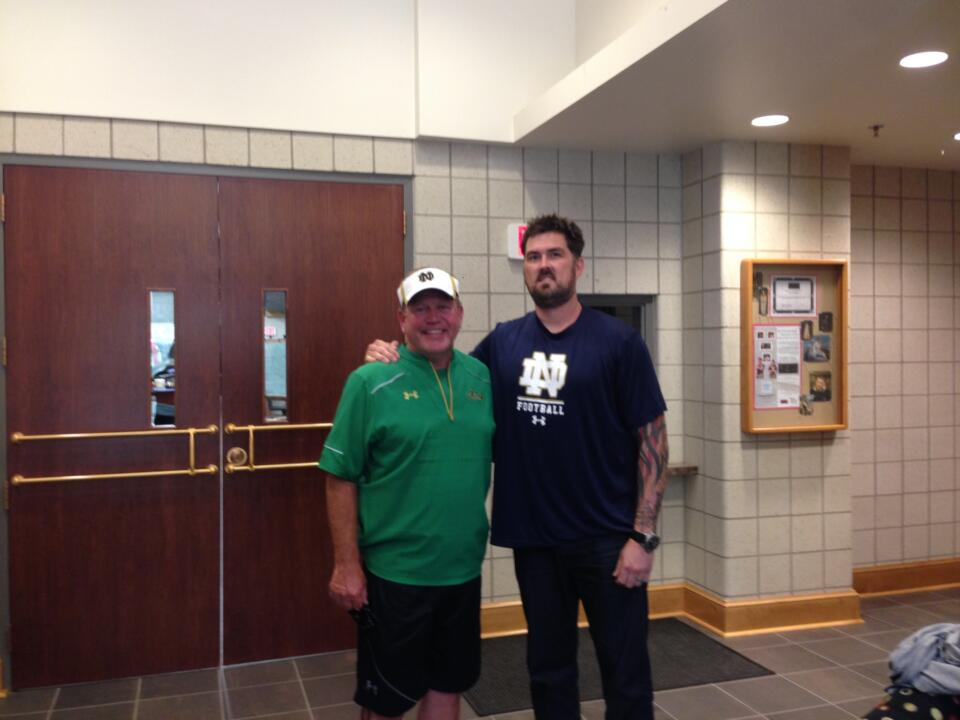 The Lone Survivor, Marcus Luttrell, spoke to the Notre Dame football team on Monday.