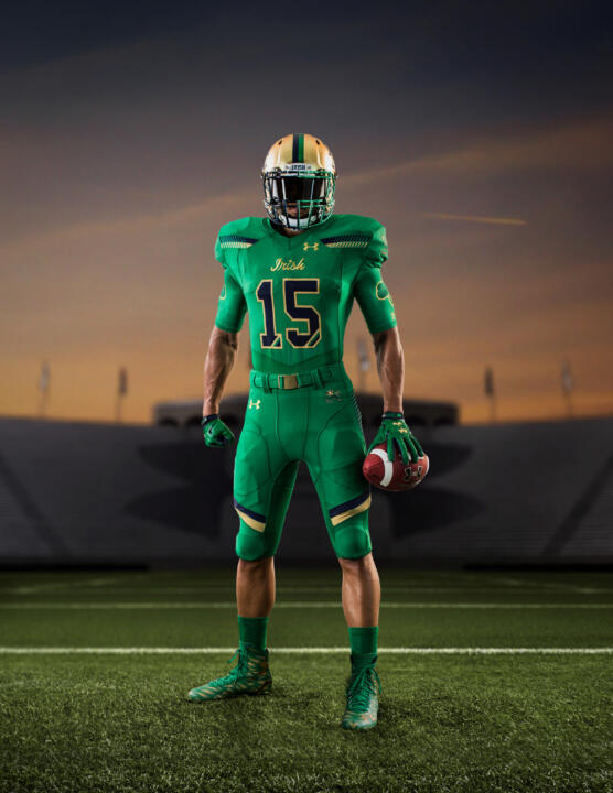 Under Armour is helping the Irish look like green monsters in front of the Green Monster on Nov. 21.