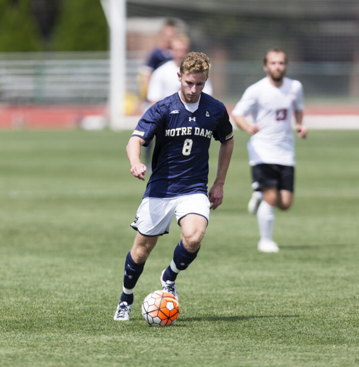 Jon Gallagher notched the lone Notre Dame goal in Sunday's exhibition match at Ohio State