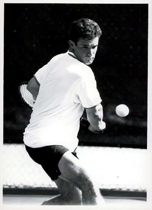 Mike Sprouse captained the 1995-96 Irish men's tennis team that won the program's first BIG EAST Championship.