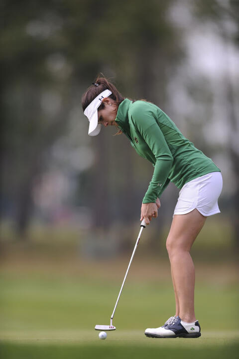 Junior Jordan Ferreira is one of three returning veterans for Notre Dame, coming off a 2014-15 campaign that saw her post a career-low 74.56 stroke average.
