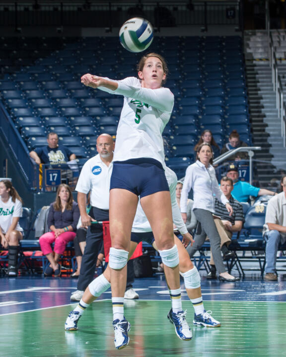 Sophomore Sydney Kuhn had six kills, five digs and two blocks to lead the Irish against Seton Hall Friday.