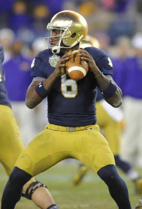 Malik Zaire will make his first career start at Notre Dame Stadium on Saturday.