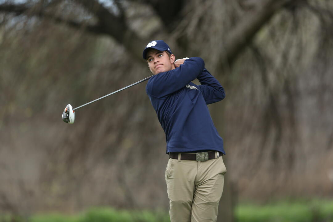 Junior Matthew Rushton fired an afternoon two-under-par 69 to help Notre Dame take the overnight lead after day one of the Fighting Irish Golf Classic on Monday