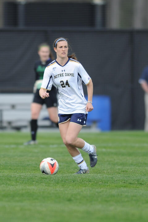 Senior captain Katie Naughton garnered ACC Defensive Player of the Week honors on Tuesday.