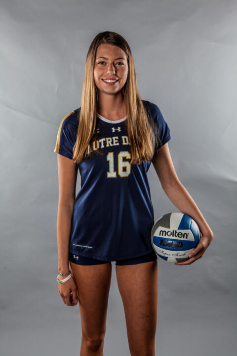 Freshman middle blocker Meg Morningstar.