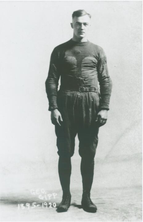A consensus All-American, George Gipp led the Irish to 19 consecutive wins from 1919-20.