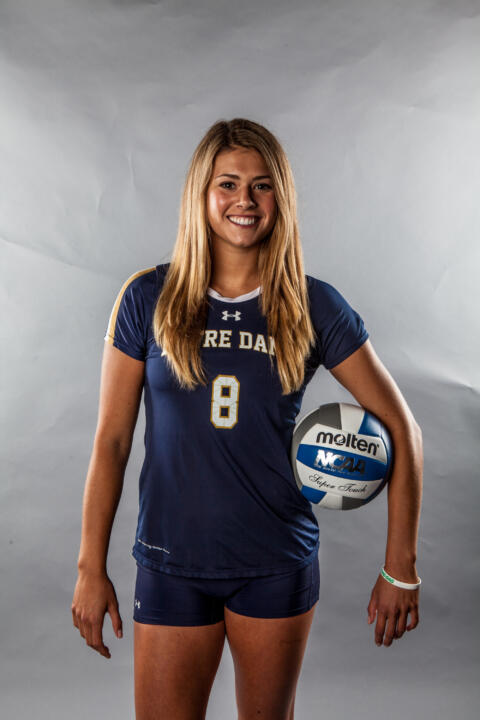 Co-captain Maddie Dilfer is believed to be one of just three Irish sophomores in program history to serve as a captain.