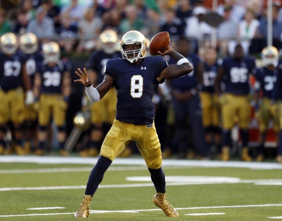Malik Zaire passed for 313 yards in his first home start