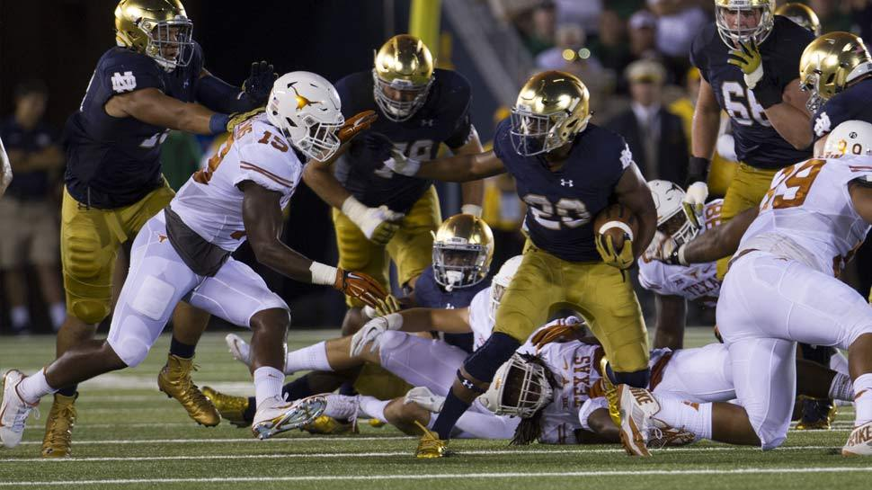 C.J. Prosise is returning to his home state Saturday when the Irish meet Virginia.
