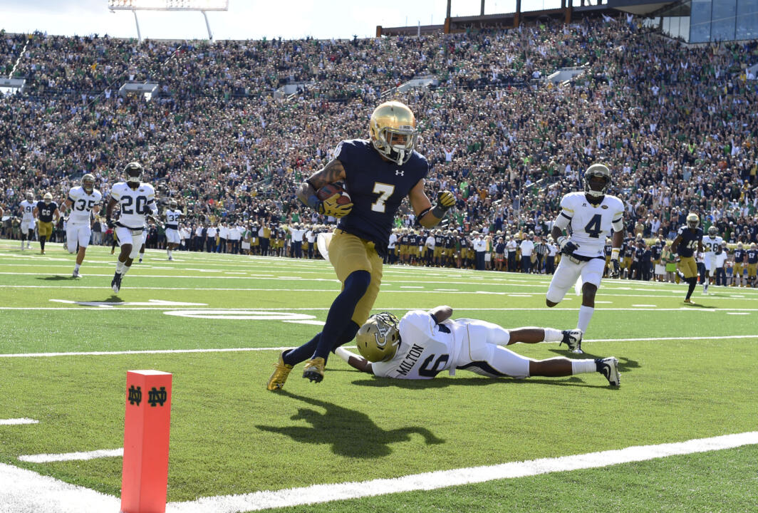 Will Fuller is tied for first in the nation with three TD catches