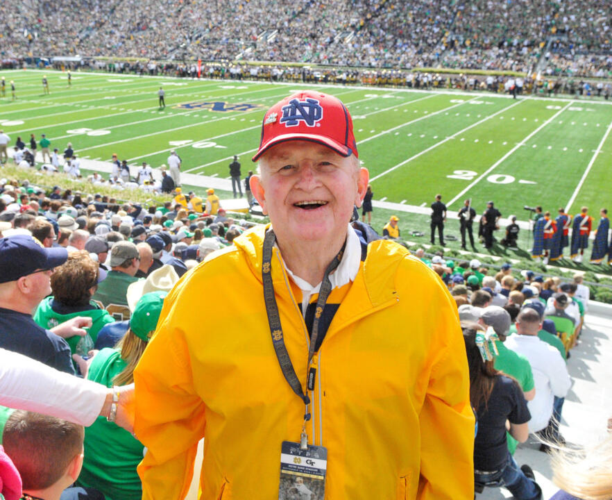 Carl 'Bud' Schmitt has attended every Notre Dame home football game since 1956, a streak of more than 335 games, and he will be in the stands as usual for Saturday's matchup against Massachusetts at Notre Dame Stadium.
