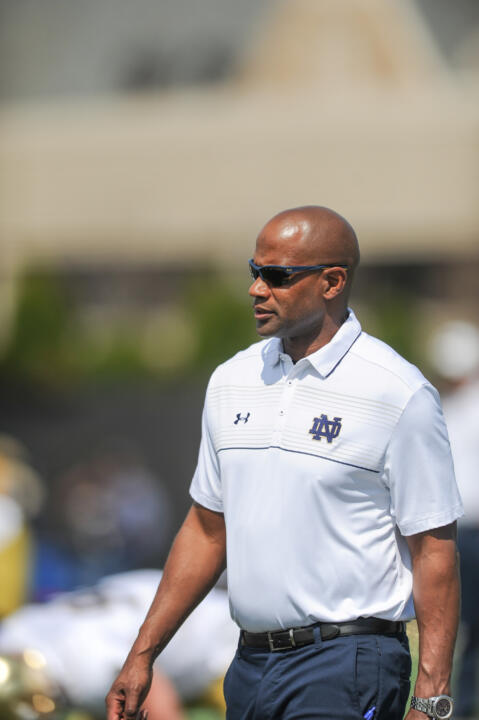 A three-year starter at cornerback for the Irish, Todd Lyght is in his first season coaching the Notre Dame defensive backs.