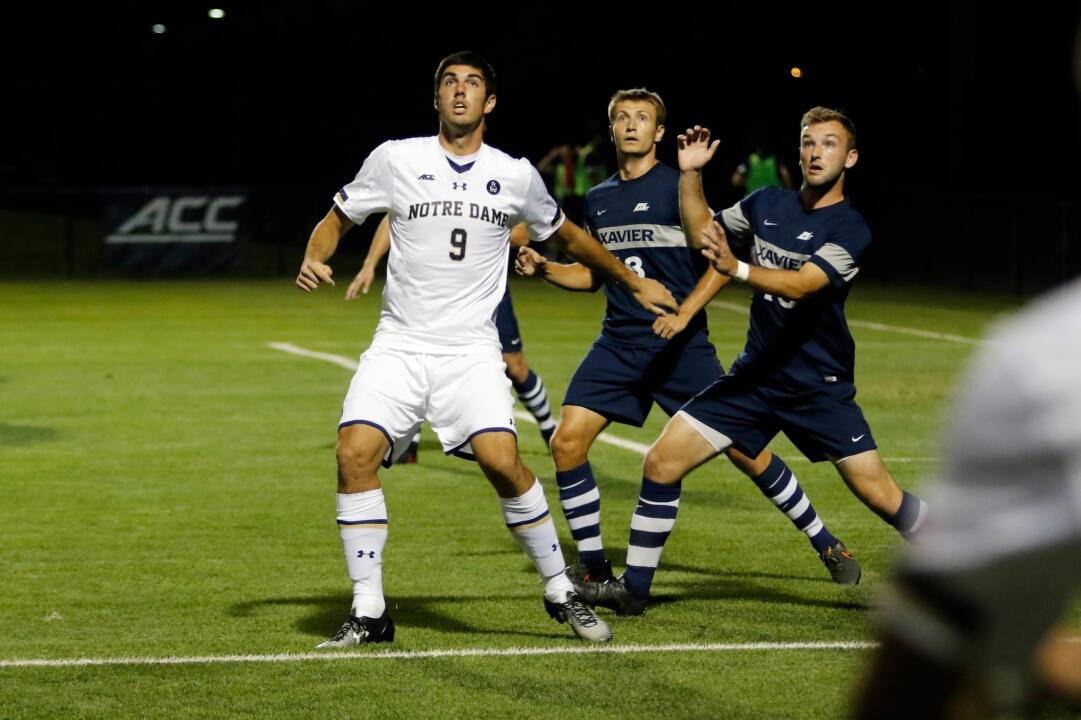 Sophomore forward Jeffrey Farina had a team-high two assists in Notre Dame's 3-1 win over No. 4 Virginia last Friday