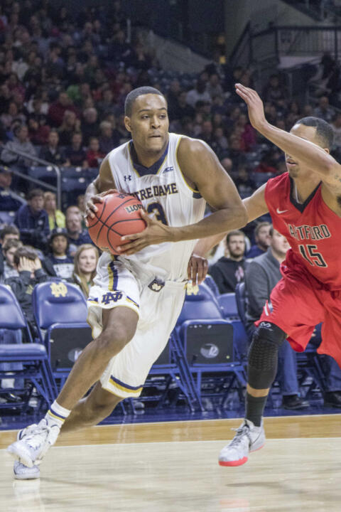 V.J. Beachem is a on track to earn a starting spot in the Irish starting lineup this season.