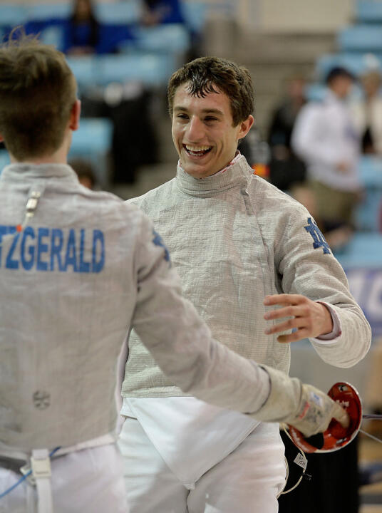 Sophomore Jonah Shainberg took gold in Division I men's sabre on Friday at the October North American Cup in Richmond, Va.