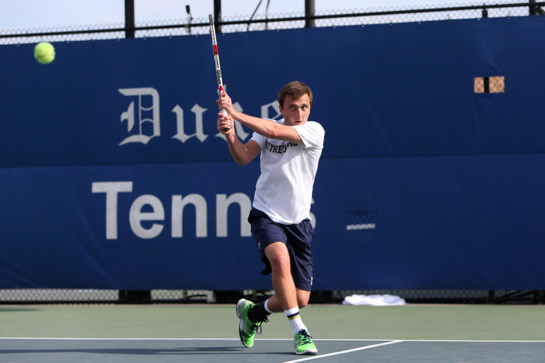 Junior Eddy Covalschi will be one of four Irish men's tennis student-athletes competing at the ITA All-American Championships beginning this Saturday in Tulsa, Oklahoma.