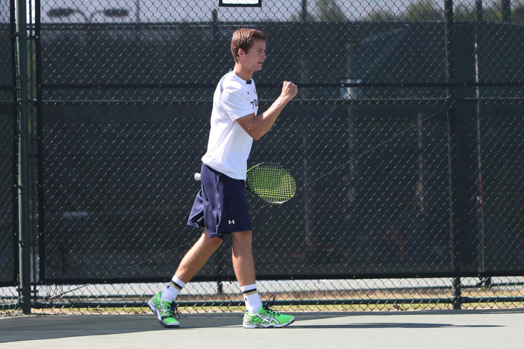 Senior Quentin Monaghan defeated Alabama's Korey Lovett on Thursday in the first round of the ITA All-American Championships.