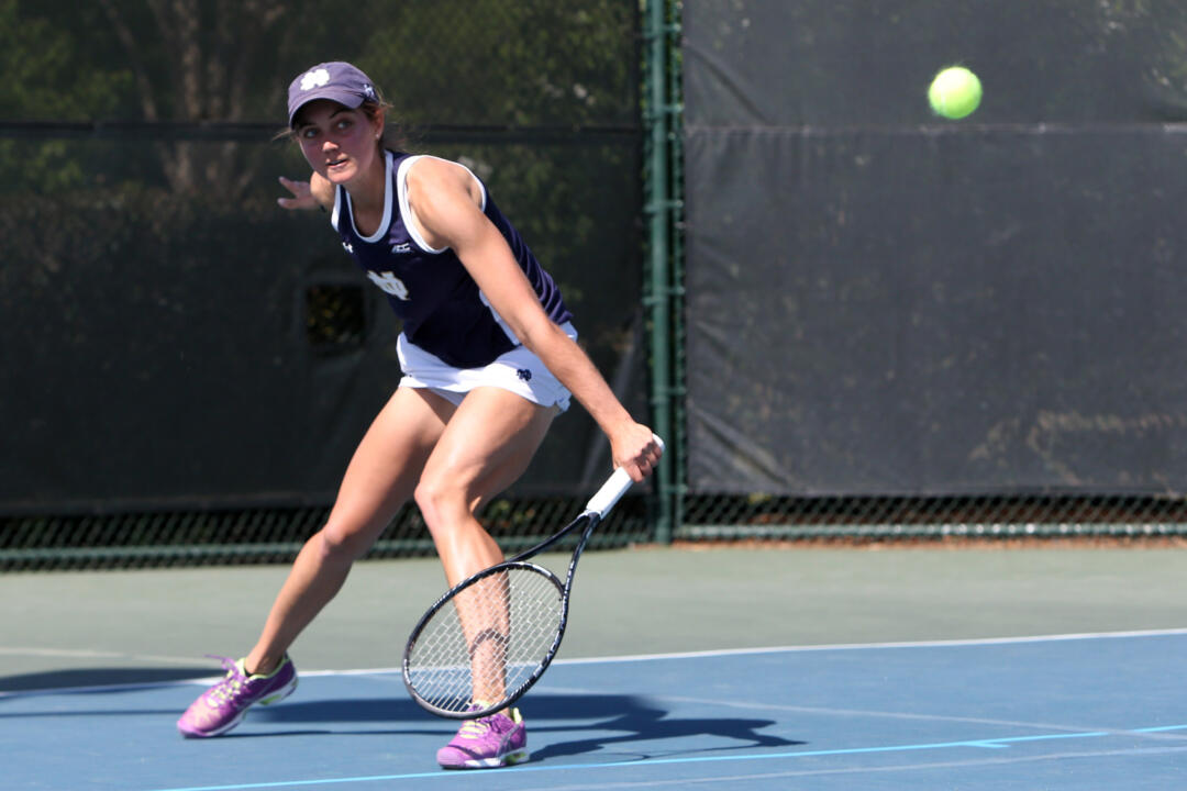 Junior Mary Closs will be one of five Irish student-athletes competing at the ITA Midwest Regional Championships this weekend in Ann Arbor, Mich.