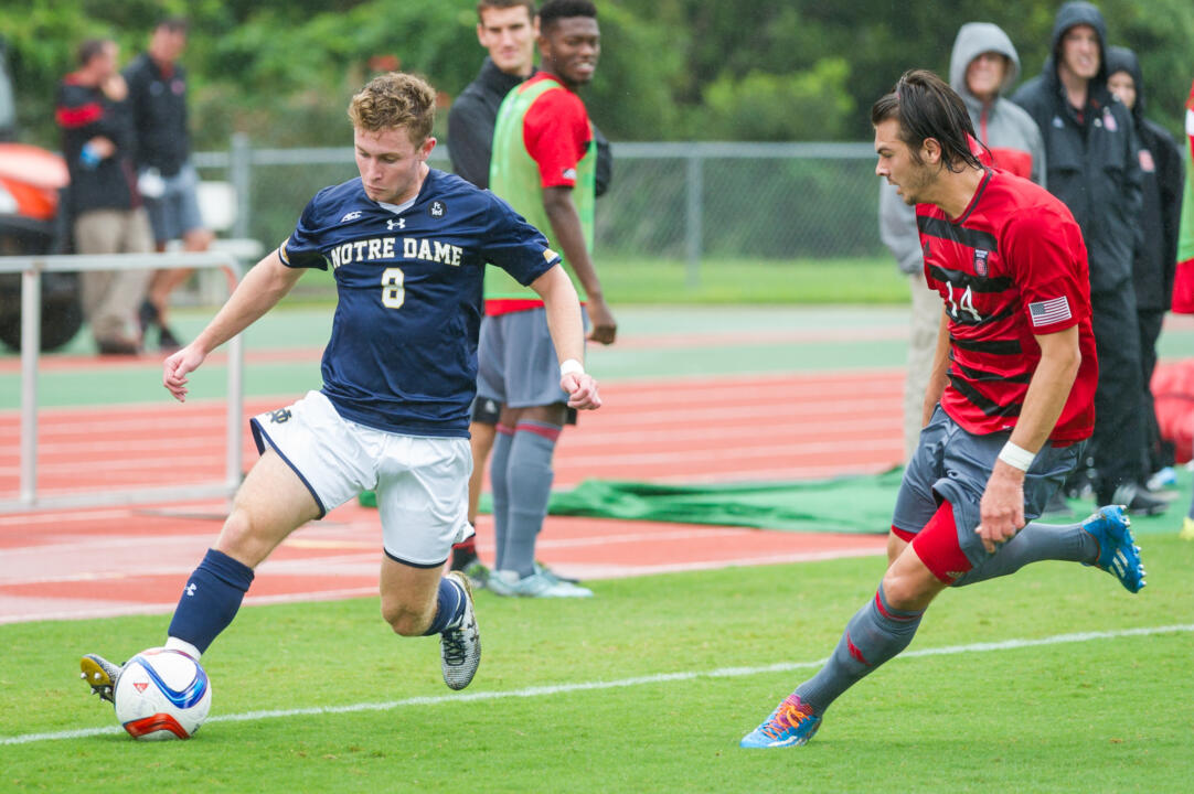 Jon Gallagher notched his seventh goal of 2015 in the 34th minute of Sunday's 1-1 Notre Dame draw at North Carolina State