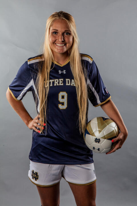 Freshman Natalie Jacobs is second on the Irish with four goals and leads the team with five assists.