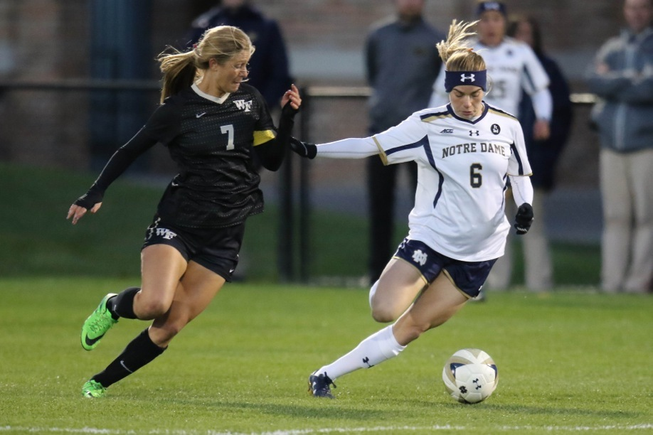 Irish senior Anna Maria Gilbertson scored her team-leading eighth goal of the season last Friday, her fourth game-winning goal of the year.