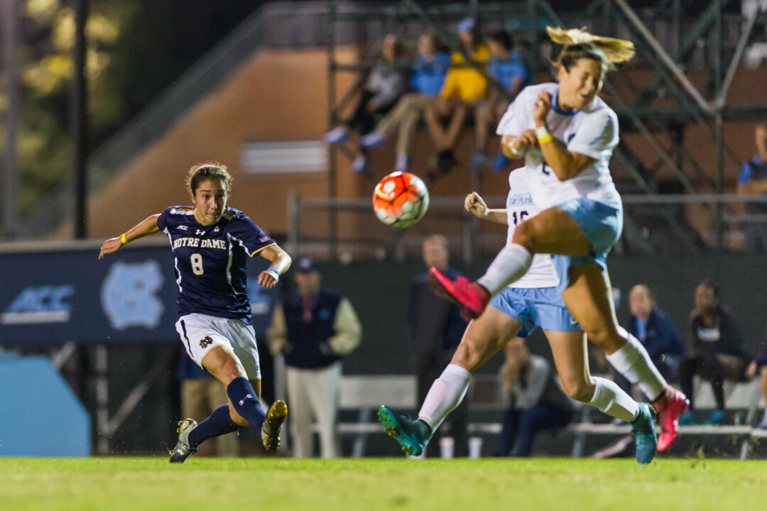 Sophomore Sabrina Flores scored the only goal of the night for the Irish.