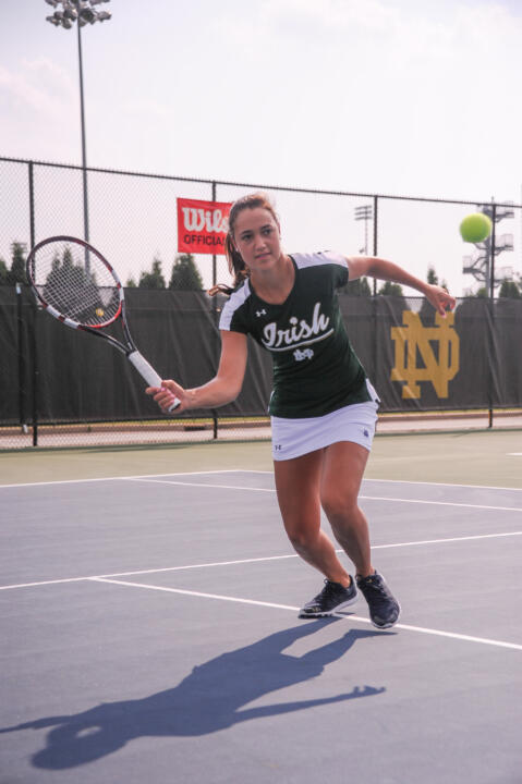 Senior Quinn Gleason moved into the Round of 16 with a win Saturday at the ITA Midwest Regional Championships.