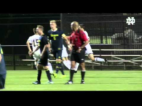 Notre Dame vs Michigan Men's Soccer Highlights